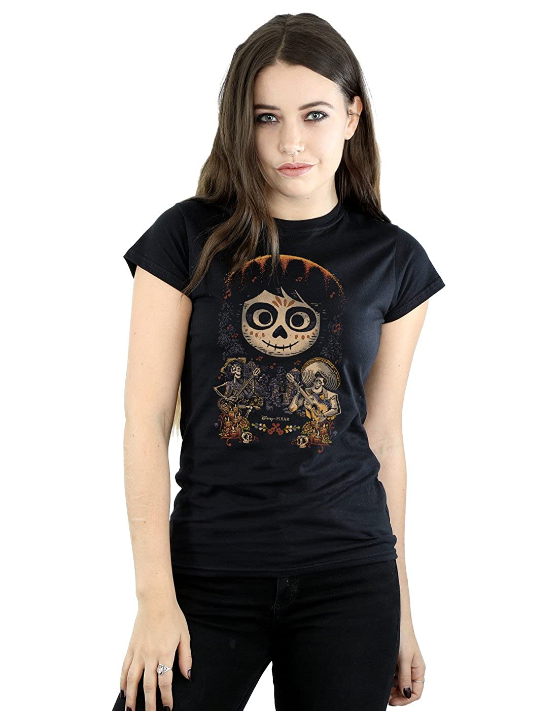 Disney Mujer Coco Miguel Face Poster Camiseta