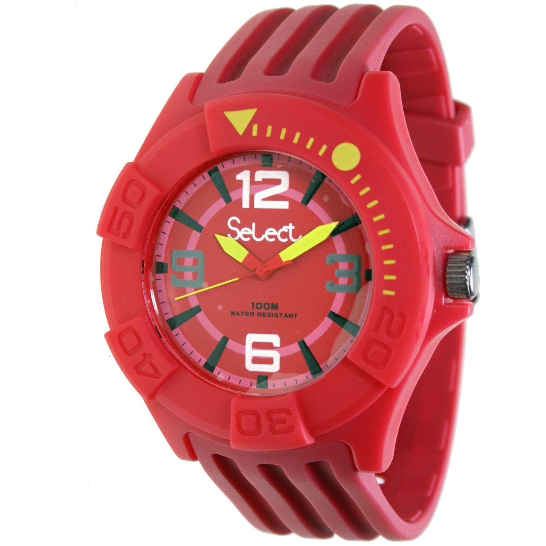 Select Tc-30-09 Reloj Analogico para Niño Caja De Resina Esfera Color Rojo: Amazon.es: Relojes