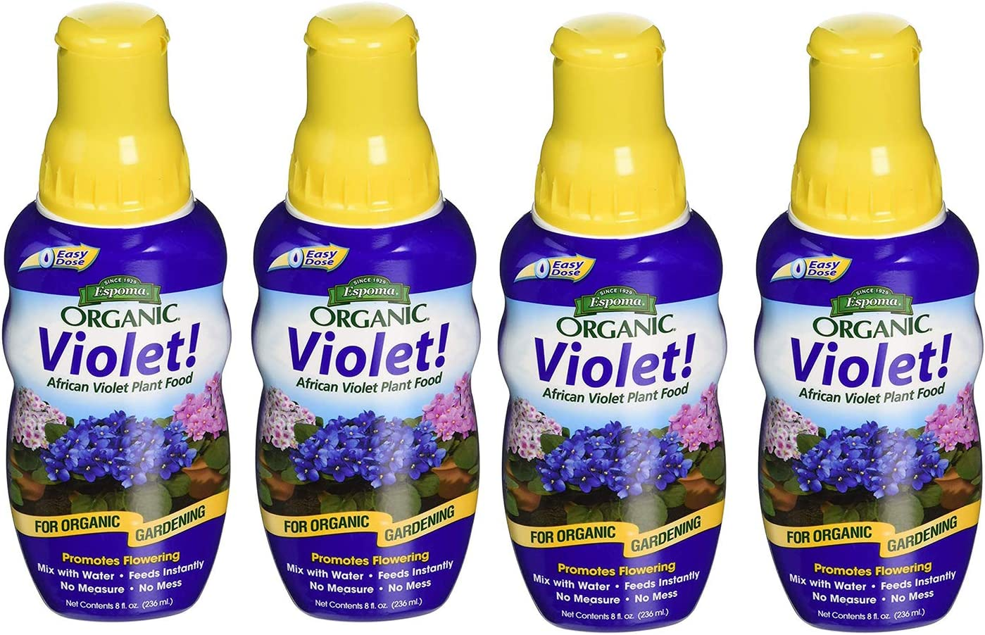 Espoma Violet! Liquid Plant Food, Natural & Organic African Violet Plant Food, 8 fl oz, Pack of 1