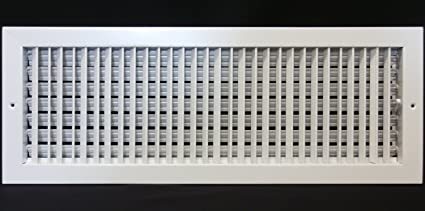 """24/"""" x 6/"""" ADJUSTABLE DIFFUSER Sidewall or Grille Register Vent Duct Cover"""