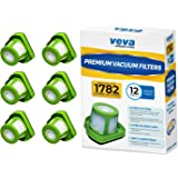 VEVA Premium Vacuum Filter Set with 12 Pieces Total of 6 HEPA Filters and 6 Covers Compatible with Bissell 1782 Pet Hair Eras