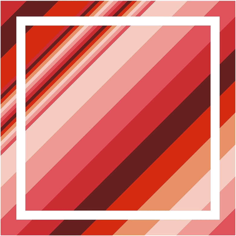 Tuchgr/ö/ße 50 x 50 cm 100/% Seide TigerTie Seiden Nickituch Satin in rose rot bordeaux weiss gemustert