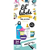 Waterproof Labels, Multipurpose, Self-Laminating Labels, Dishwasher-safe, Write-On for Home Organization and Kitchen Labels (All-Purpose White)
