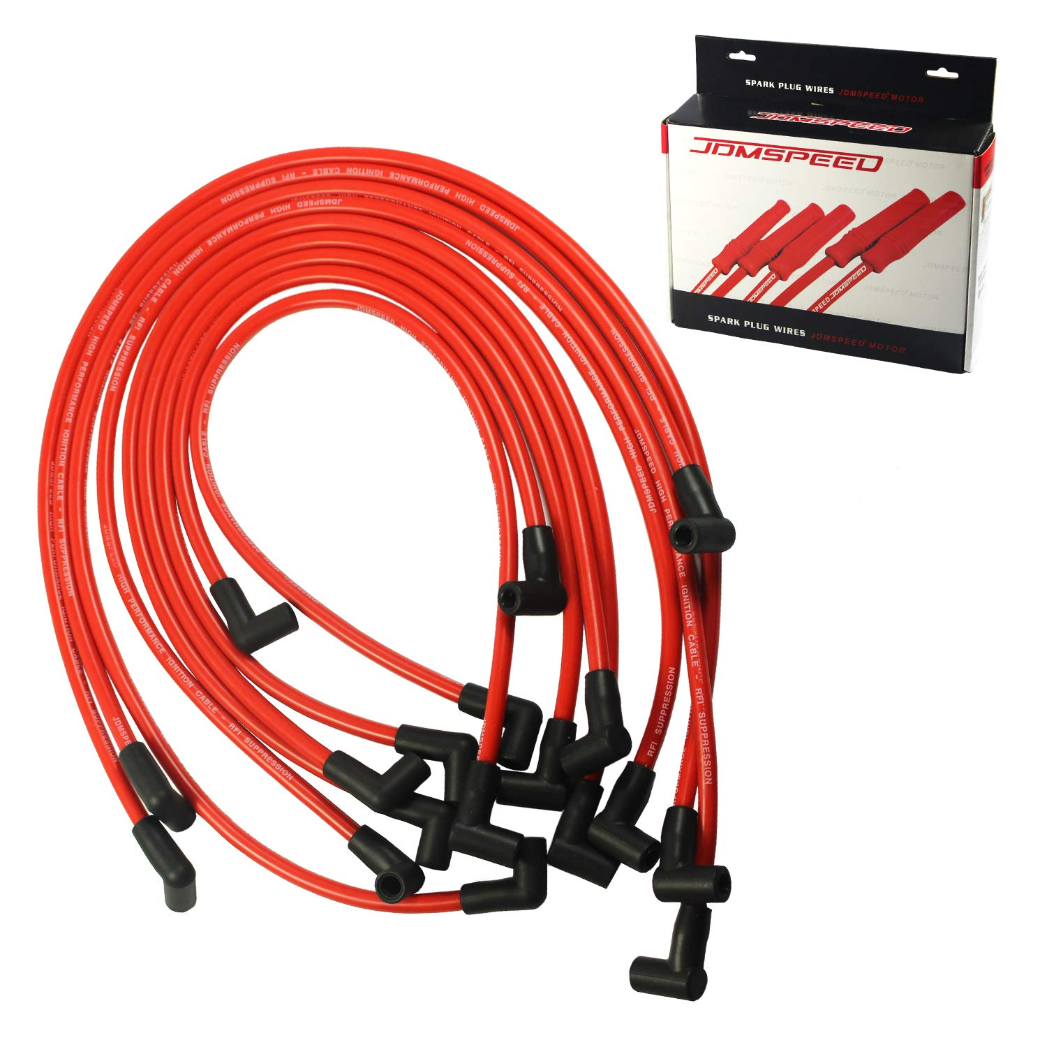 JDMSPEED New 10.5mm Spark Plug Wire Set Replacement for HEI SBC BBC 350 383 454 Electronic