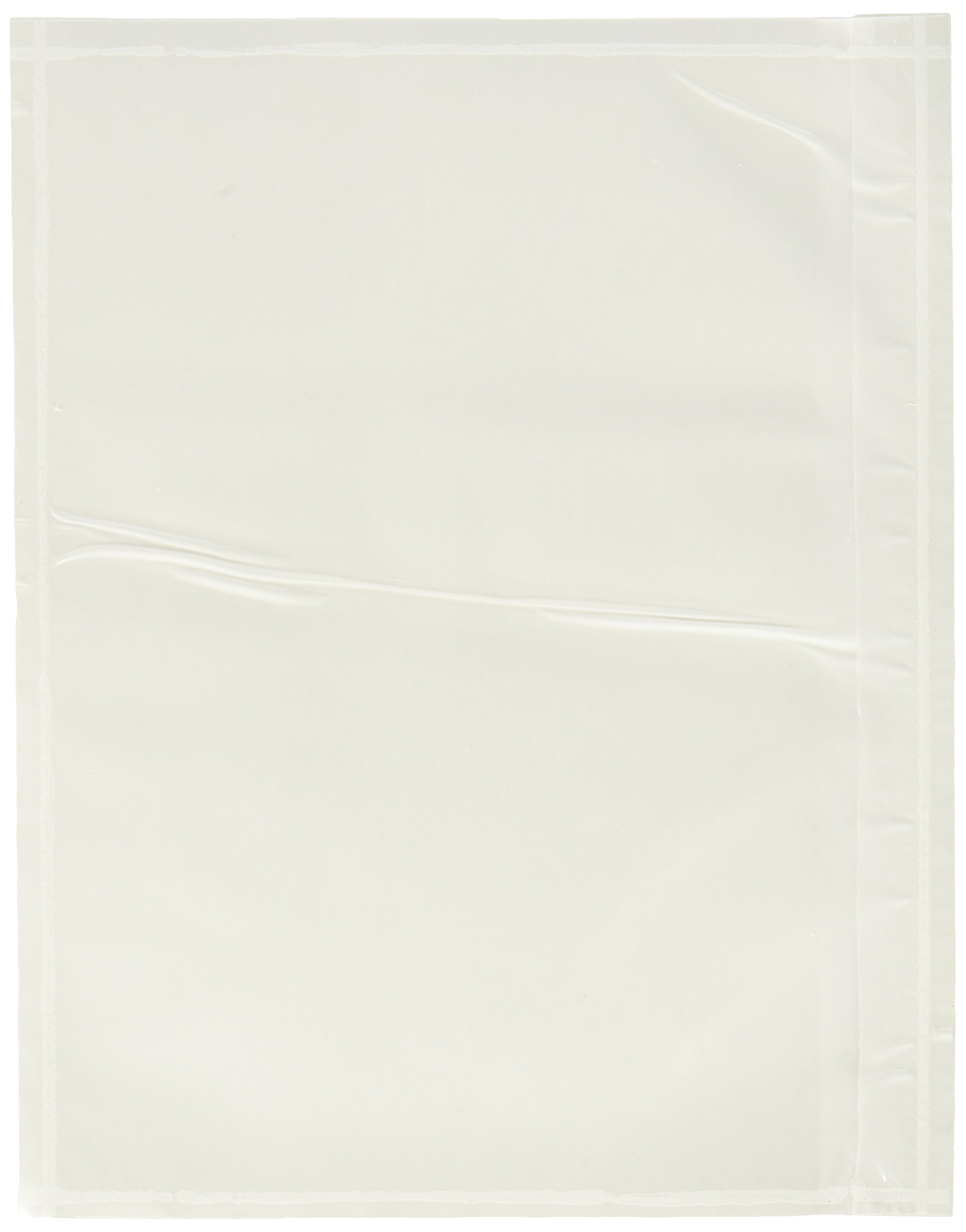 7.5'' x 5.5'' Clear Adhesive Top Loading Packing List/Shipping Label Envelopes Pouches (100 pk)