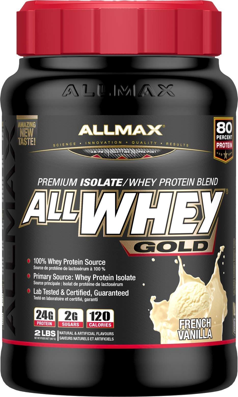 Amazon.com  ALLMAX Nutrition AllWhey Gold Whey Protein, Vanilla, 2 lbs   Health   Personal Care c3573c379fc