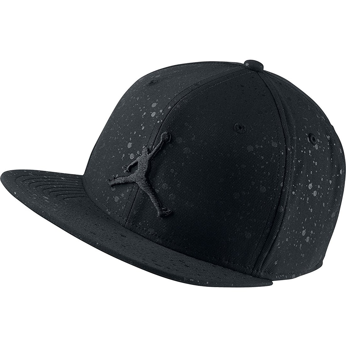 Jordan Nike Mens Speckle Print Snapback Hat Black/Black 821830-011 by Jordan