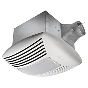 Delta Breez SIG110DL Signature 110 CFM Exhaust Fan/Light with Adjustable Speed Control and Delay Timer