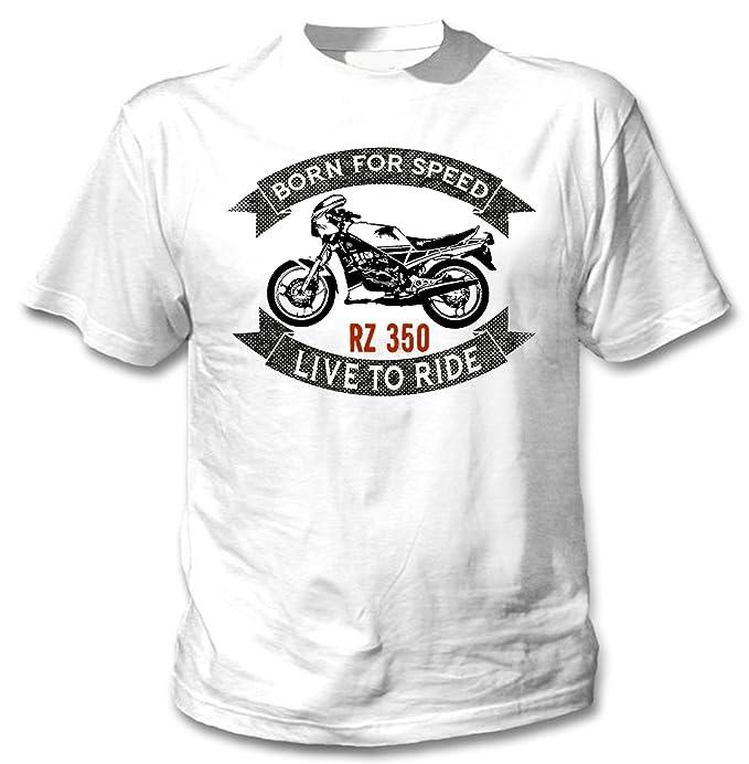 Teesandengines YAMAHA RZ350 Camiseta blanca para hombre de algodon: Amazon.es: Ropa y accesorios