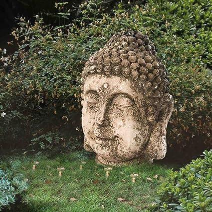 Merveilleux Sunjoy 17u0026quot; Resin Rustic Garden Buda Statue