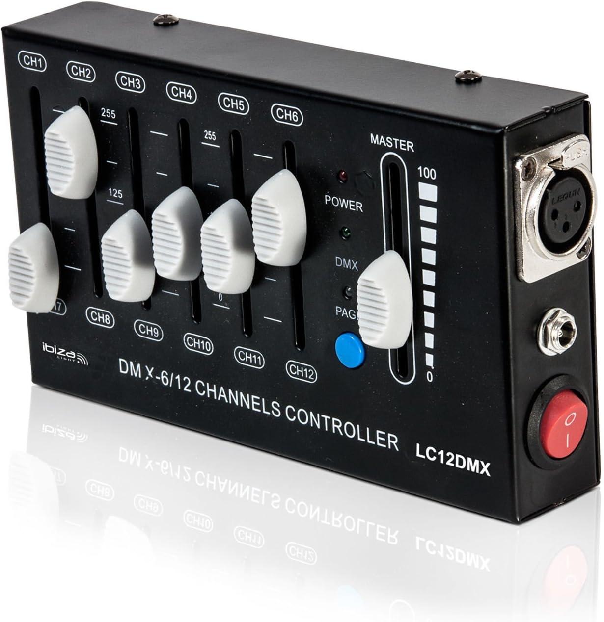 Ibiza Lc12Dmx - Controlador DMX: Amazon.es: Instrumentos musicales