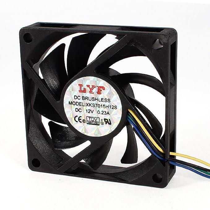 Computadora CPU Cooler Radiador DC 12V 0.23A 4-Pin 7 cm x 7 cm ...