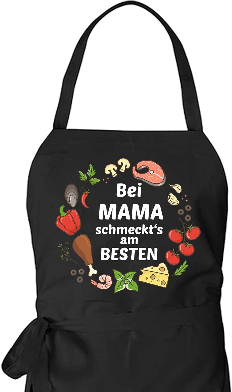 BEI Mama SCHMECKTS AM BESTEN Kochsch/ürze als Geschenkidee f/ür Hobby K/öche//K/öchin mit dem Spruch