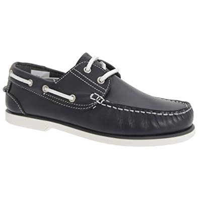 Amazon Com Dek Boys Leather Non Marking Moccasin Boat