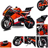 Fit Right 2020 Mini Gas Pocket Bike 03 On 40cc 4 Stroke, Support Up to 165 lbs, EPA Approved, Perfect Mini Pocket Bike for Ki