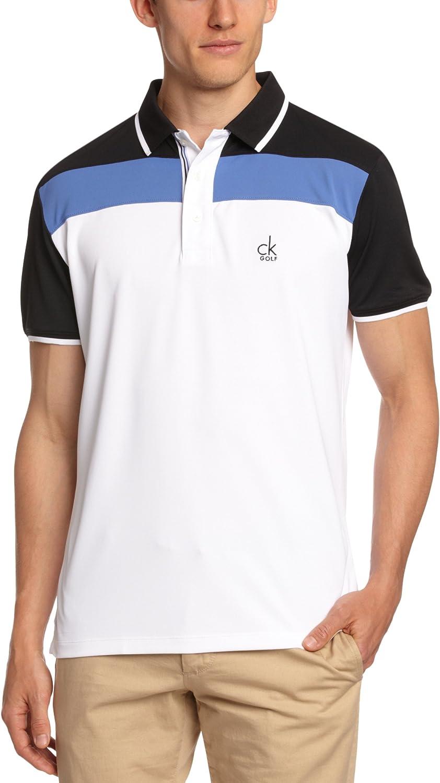 Calvin Klein Golf Tech Bloque piqué CK Hombres Camisas de Polo ...