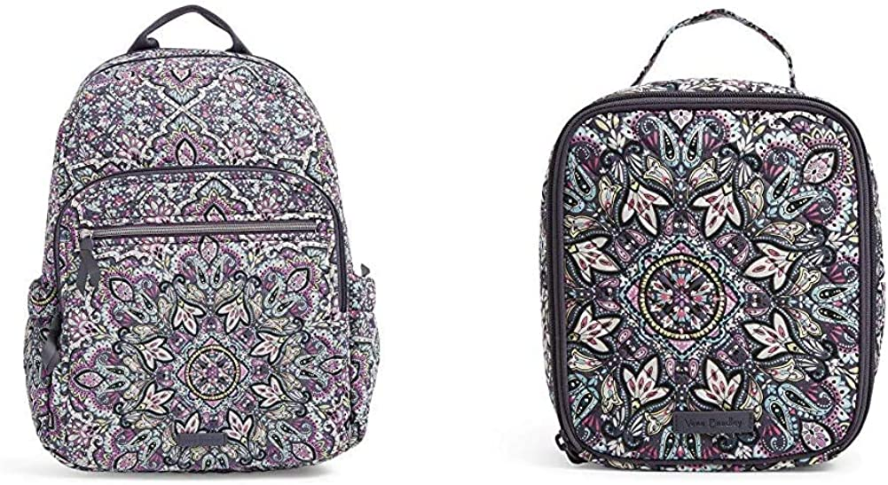 Vera Bradley Signature Cotton Campus Bunch Super beauty product restock quality top Comb Backpack Lunch Max 68% OFF