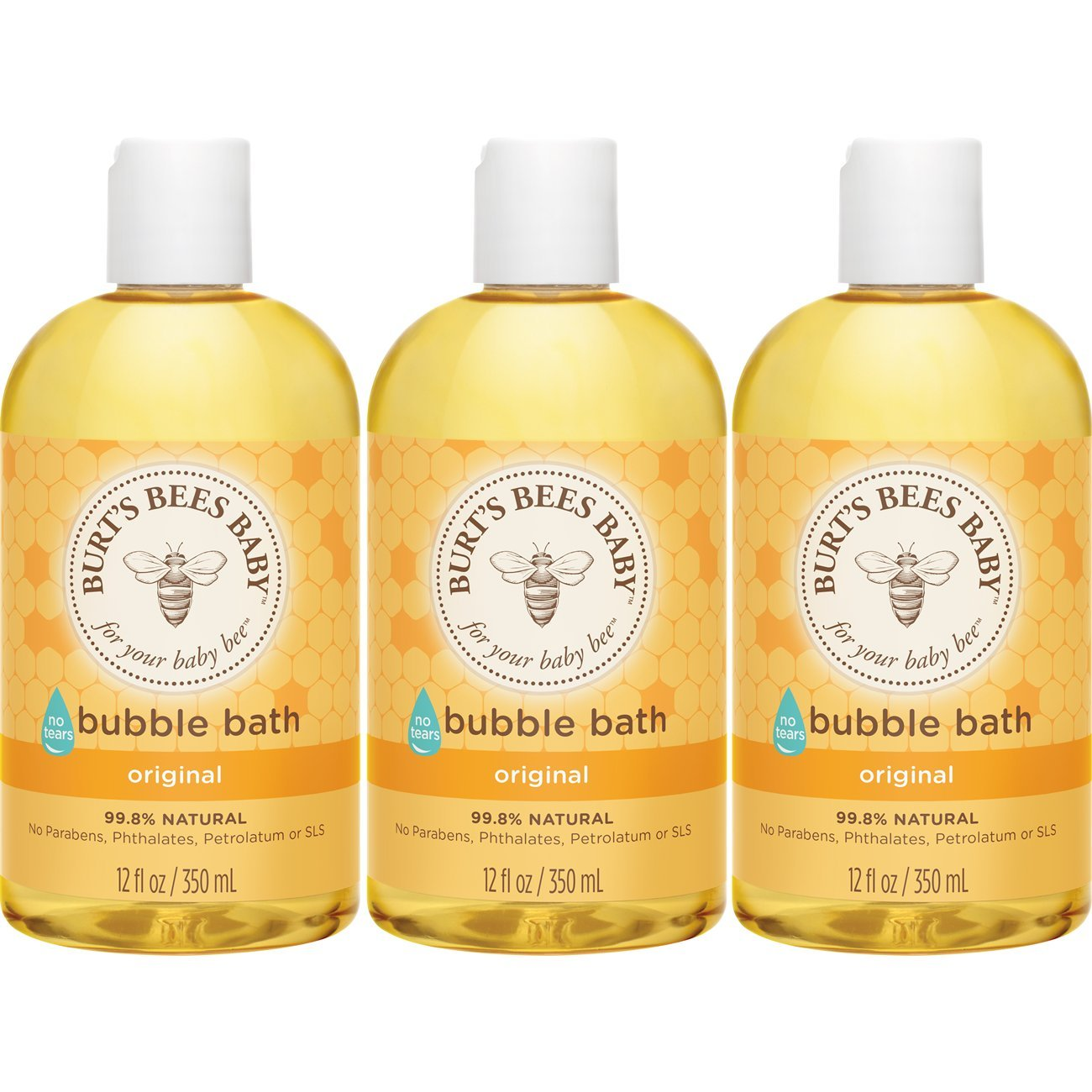 Burt's Bees Baby Bubble Bath, 12 Ounces (Pack of 3) Burt' s Bees hbf-jjj-omgh-mh3164