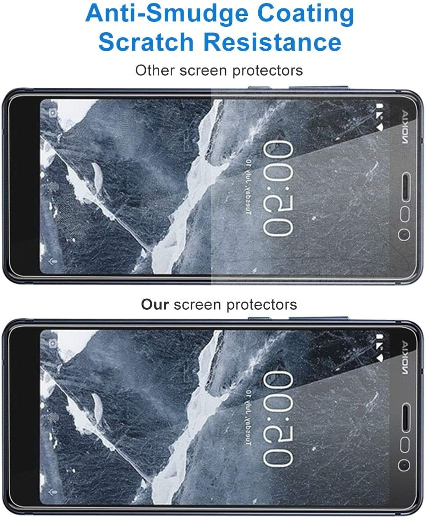 GUOHUN Screen Protector Protective 100 PCS 9H 2.5D Tempered Glass Film for Nokia 5.1 Glass Film