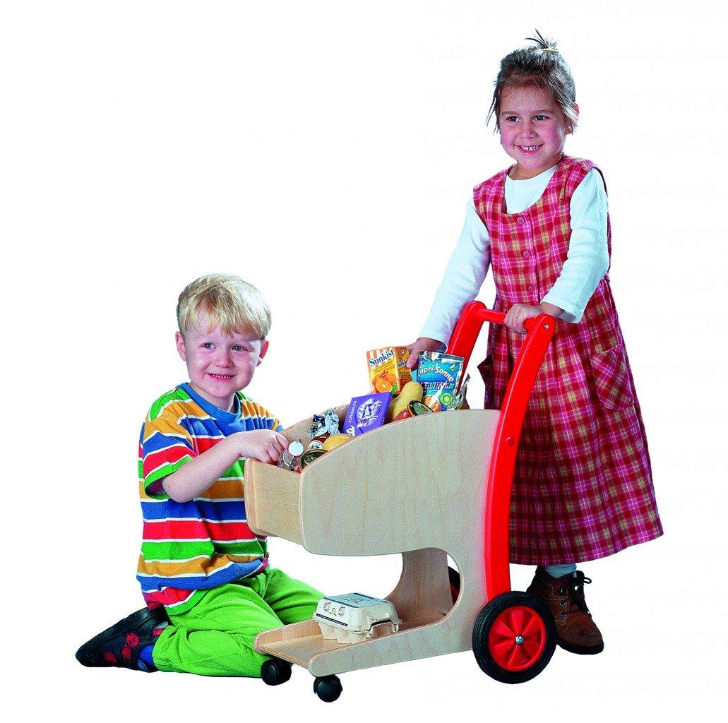 Kinder Einkaufswagen Holz - Vinkelau Holz Einkaufswagen