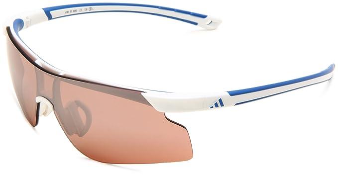 c110aae17bc9 Amazon.com  adidas Adizero Tempo S Shield Sunglasses White Blue 75 ...