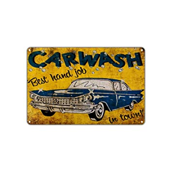 Amazon.com: Carwash Best Hand Job In Town! Funny Novelty Vintage ...