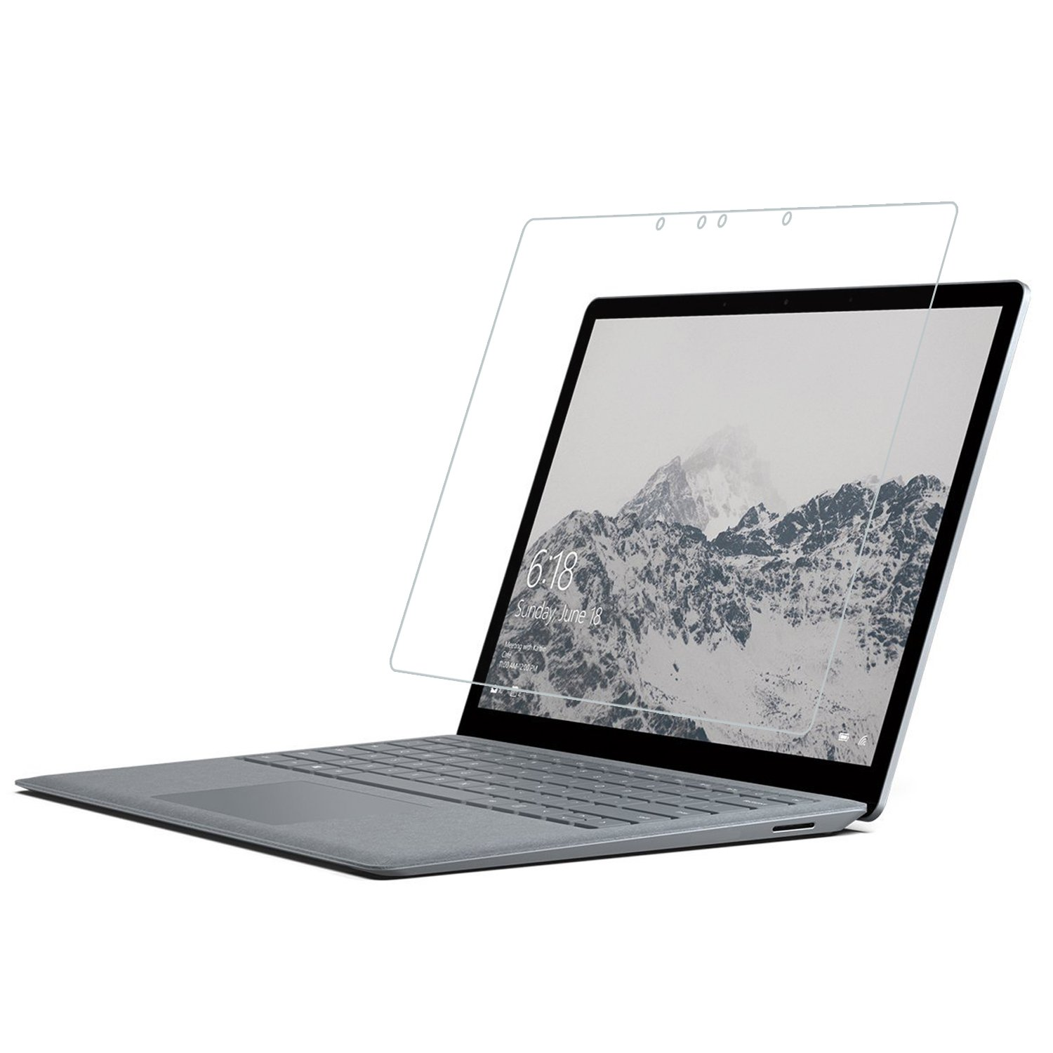 """RBEIK Microsoft Surface Laptop 13.5 Inch Screen Protector Glass, Premium Anti-Scratch Tempered Glass Screen Protector for Microsoft Surface Laptop 13.5"""" PixelSense Touchscreen 2017 Release"""