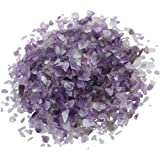 1 lb/Bag Amethyst Tumbled Chips,eGlomart Small Stone Crushed Pieces Irregular Shaped Stones Healing Reiki Crystal-[About 460 gram]