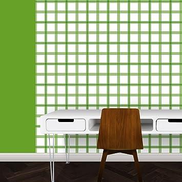 Schicke Modernen Karo Tapete In Grün   Vlies Tapete Streifen Karo    Klassische Wanddeko   GMM