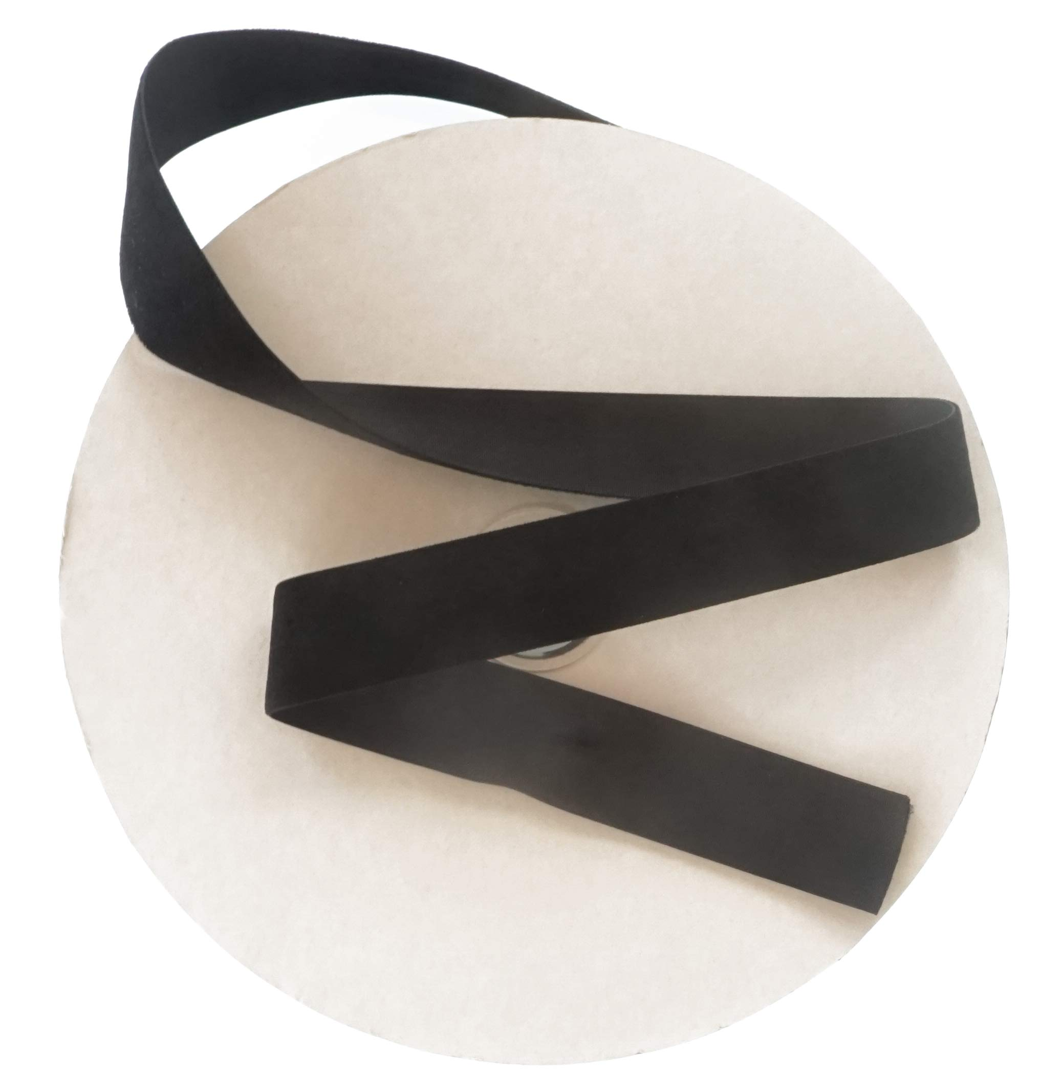 Black Velvet Ribbon by Drency. Huge 25 Yards Roll. 1 Inch Single Face Spool