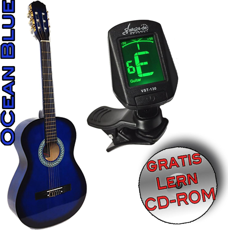 Student – Set de guitarra clásica Ocean Blue Tamaño: 4/4, Funda ...