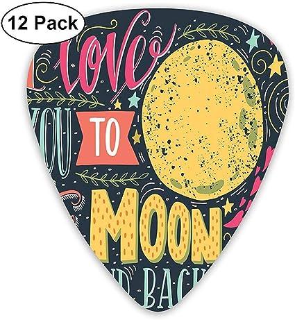 Paquete de 12 púas de guitarra, con imagen de Festival In Love ...