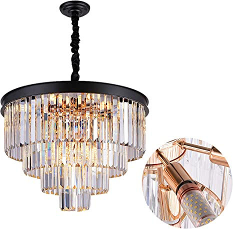 Vintage Crystal Glass Chandelier Mid Century Lighting Czech Glass Chandelier Vintage Ceiling Pendant Lamp