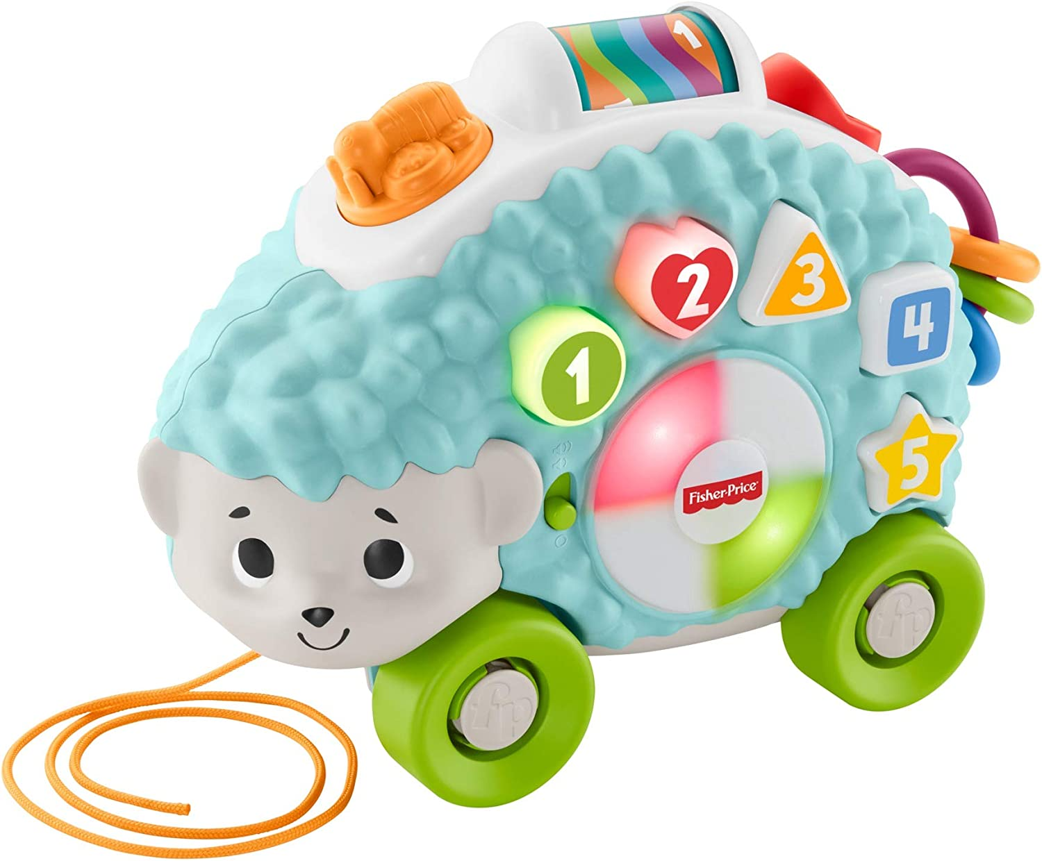 Fisher-Price Linkimals Happy Shapes Hedgehog - Interactive Educational Toy with Music and Lights for Baby Ages 9 Months   Up