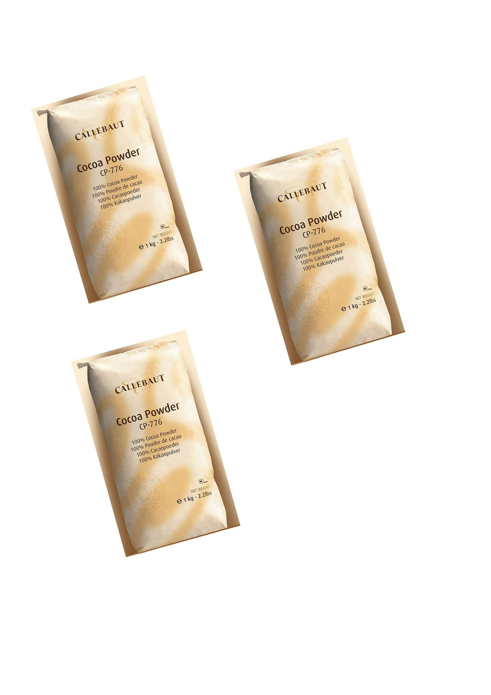 Callebaut Baking Cocoa Powder 2.2lb. bag in Cook's Illustrated (3pack)