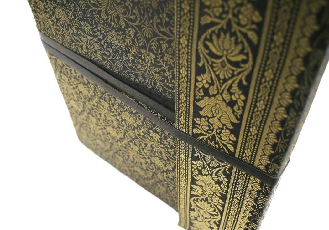 Life Arts Handmade Sari Silk Photo Album, Large Black by Life Arts (Image #4)