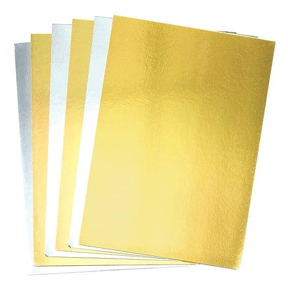 Baker Ross Karte, Gold & Silber, A4