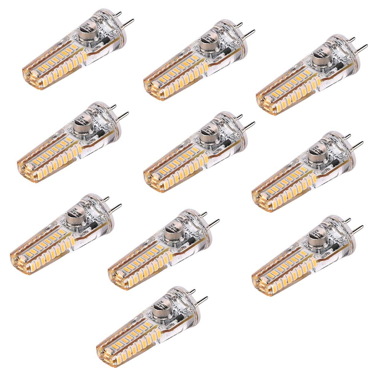 照明ランプ LED GY6.35 4W 3014 36SMD 300-400LM暖かい白2800-3200K装飾的なLEDバイピンライトAC / DC 12-24V(10PCS) LEDライト   B07Q2Z3XSJ