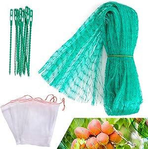 Anti Bird Netting for Garden Plants, 19Ft x 13Ft Vegetables Mesh Wrap, Fruit Net Bags