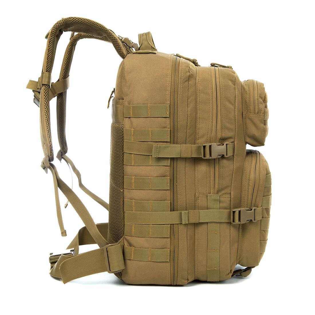 J.CARP Military Tactical Backpack, Large 3 Day Assault Pack, Army Molle Bug Out System, Brown Bag with 2L Hydration Water Bladder