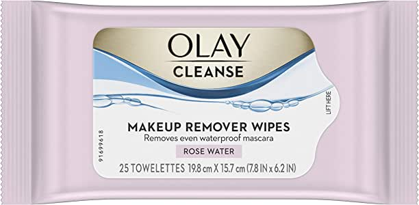 Olay Makeup Remover Wet Cloths Rose water, 1 Pack N/A