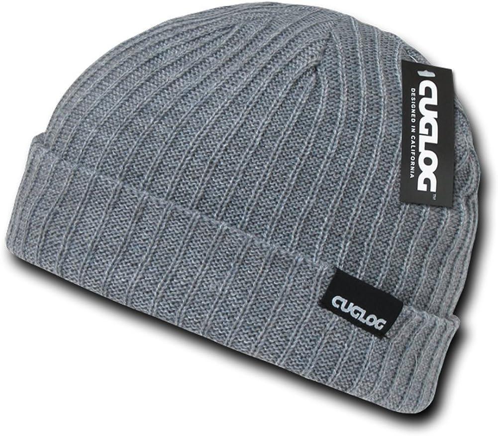 cuglog Genuine 1-Tone Long Beanie Hat Grey