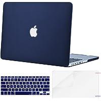 Mosiso Funda Dura Compatible MacBook Pro Retina 13 A1502 / A1425 (Non USB-C Versión 2015/2014/2013/fin 2012), Ultra Delgado Carcasa Rígida Protector de Plástico Cubierta, Azul Marino
