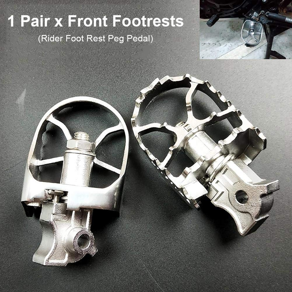 arthomer Pedane Moto Poggiapiedi per Moto Argento Poggiapiedi Anteriori Sono Realizzati in Alluminio Billet 6061-T6 per Aeromobili per BMW R1200GS