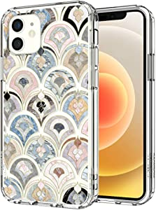 MOSNOVO Retro Marble Pattern Designed for iPhone 12 Mini Case 5.4 Inch,Clear Case with Design,TPU Bumper with Protective Hard Case Cover
