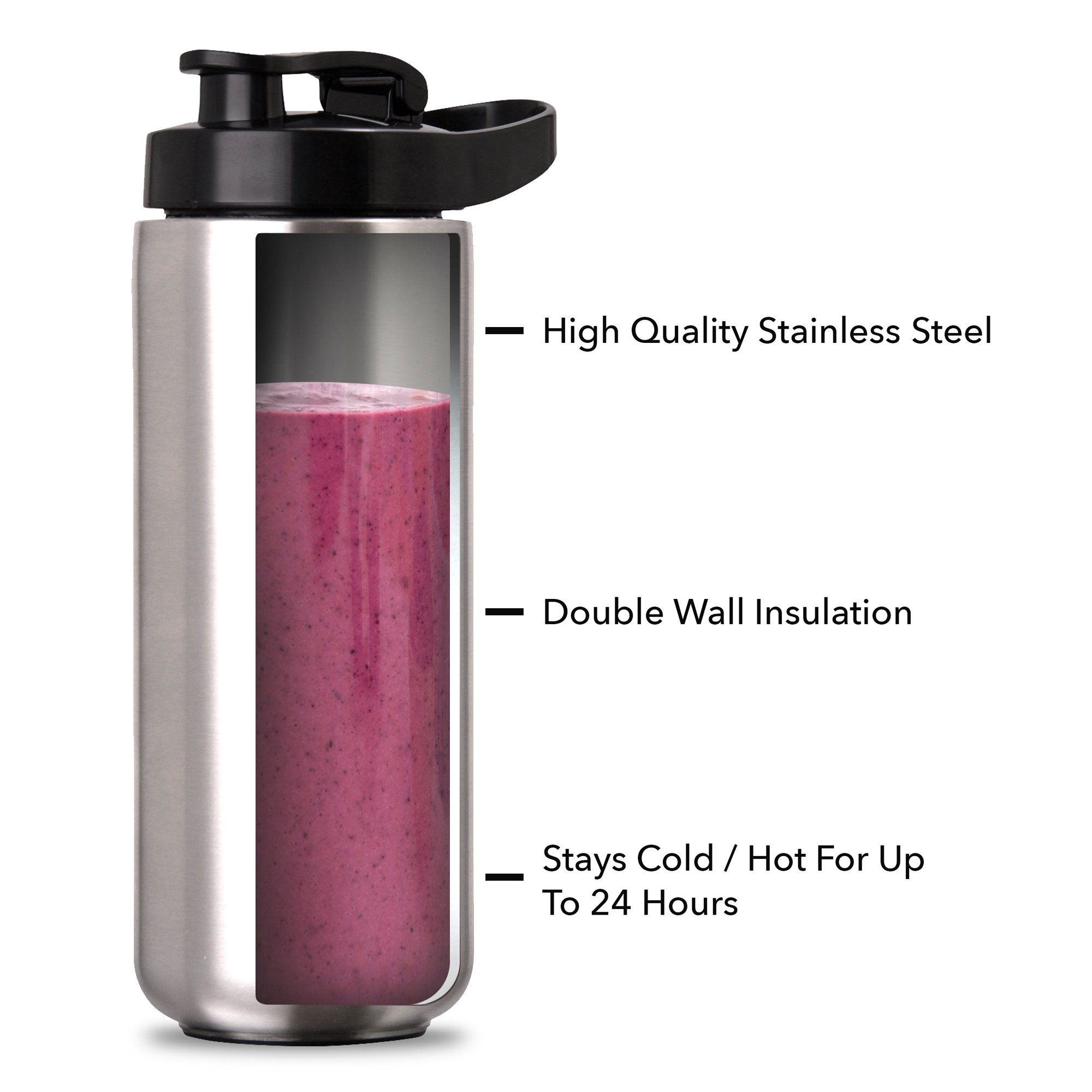 Dash Arctic Chill Blender: The Compact Personal Blender with Insulated Stainless-Steel Tumbler 16 oz + Travel Lid for Coffee Drinks, Frozen Cocktails, Smoothies by Dash (Image #3)