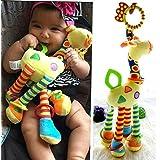 Lalang Bébé Jouet de Poussette Berceau Hochet Jouets Animales éducatifs en Peluche, d'activités Hanging Jouets, Girafe