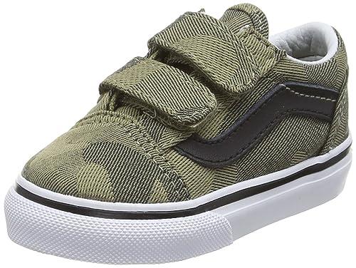 Vans Old Skool V, Botines de Senderismo Bebé-para Niños, Verde (Camo Jacquard Raven/True White), 26.5 EU: Amazon.es: Zapatos y complementos