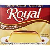 Royal Bilingual Flan with Caramel, Family Size, 5.5-Ounce (Pack of 12)