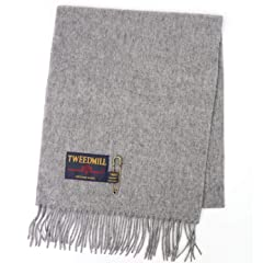 Tweedmill Lambswool Scarf: Silver